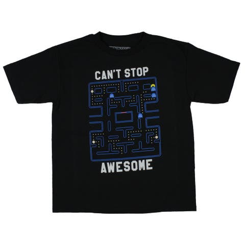 Pac-Man Boy's Can't Stop Awesome Graphic Print T-Shirt