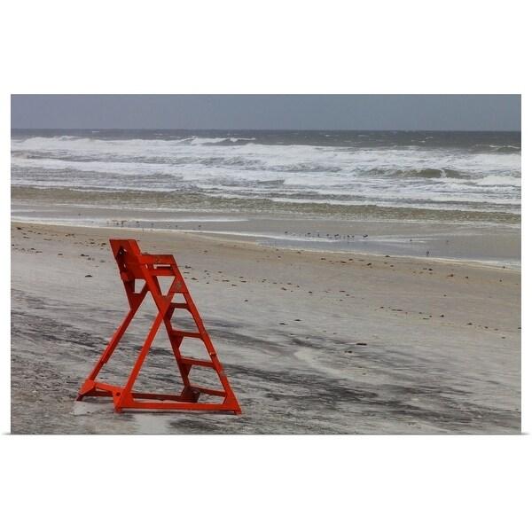 """""""An empty lifeguard chair"""" Poster Print"""