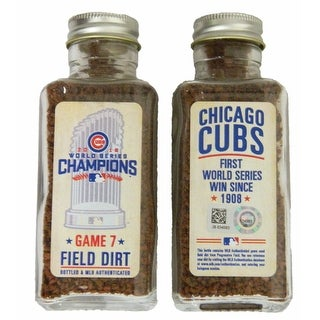 Chicago Cubs 2016 World Series Game 7 Game Used Field Dirt  MLB Authentication