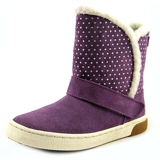 Stride Rite Dixie Youth Round Toe Leather Purple Winter Boot