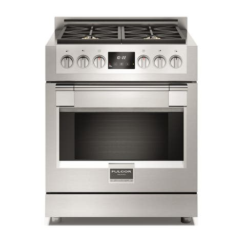 """Fulgor Milano F6PGR304 30"""" Wide 4.1 Cu. Ft. Gas Range with Flame Out Sensing - Pro Stainless"""