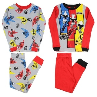 Power Rangers Ninja Steel Unleash the Power 2 Big Boys Cotton Pajama Sleepwear Sets