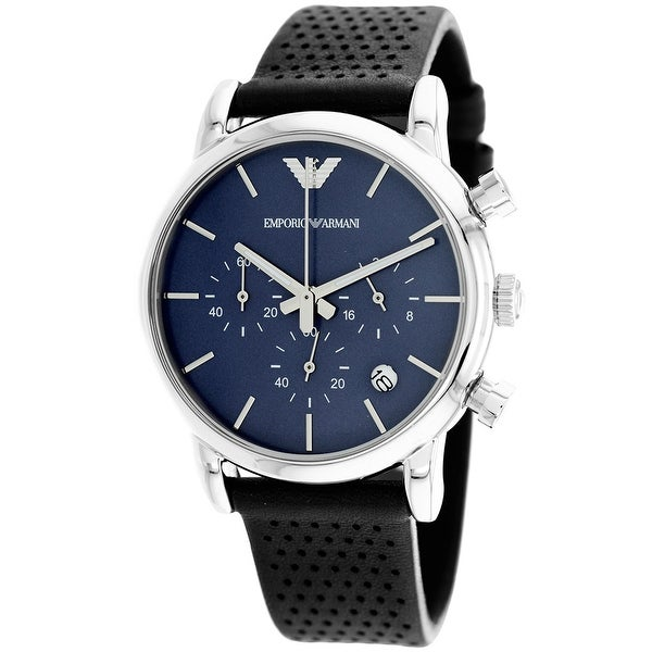 2f14afa28 Shop Armani Men's Classic AR1736 Blue Dial Watch - Free Shipping Today -  Overstock - 24204886