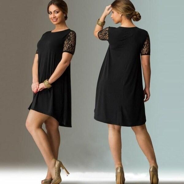 3ca97f402f Shop 6Xl Big Size Dress 2017 Summer Dresses Plus Size Women Lace ...