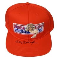 Gary Sinise Signed Forest Gump Red Bubba Gump Shrimp Co Hat