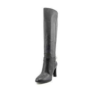 Enzo Angiolini Sumilo Wide Calf Round Toe Leather Knee High Boot
