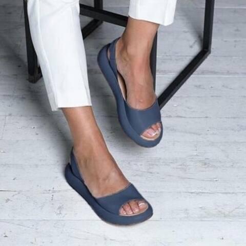 Leather Sandals Flats5 Colors