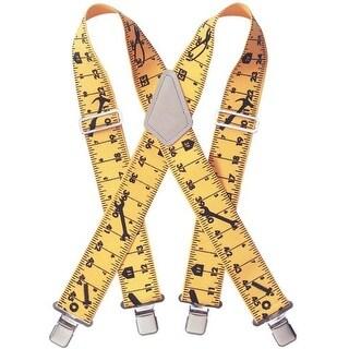 CLC 110RUL Heavy-Duty Elastic Suspenders, Ruler Pattern