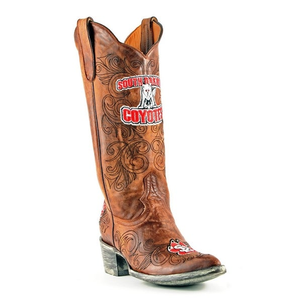 Gameday Boots Womens College South Dakota Coyotes Brass