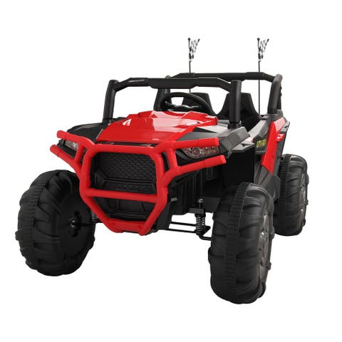 Electric Car Kids Ride on Toy 12V Battery Powered W/ Remote Control RC - 8' x 11'
