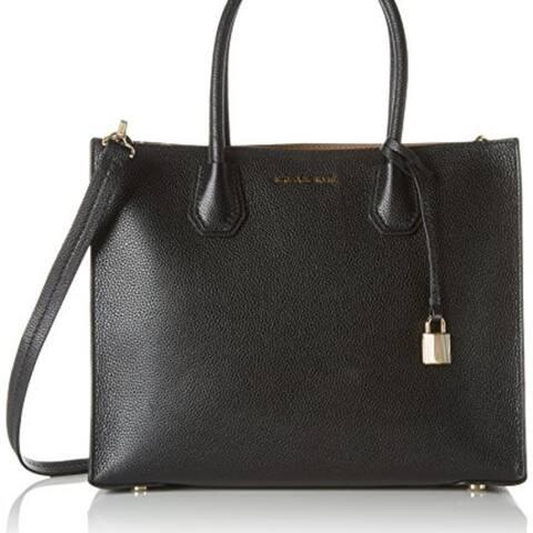0b7b56737b04 MICHAEL KORS Studio Mercer Black Large Convertible Tote Bag