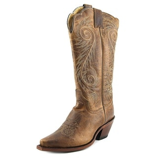 Justin Boots Damiana Pointed Toe Leather Western Boot