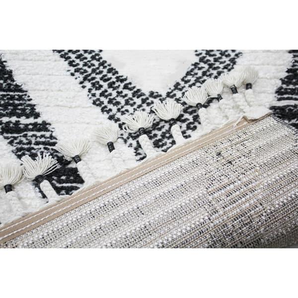 Bashian Korbin Ivory Black Contemporary Area Rug Overstock 32243190