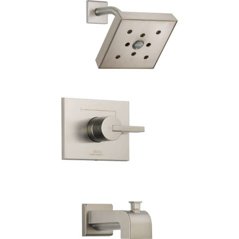 Delta T14453-H2O Vero Monitor 14 Series Single Function Pressure Balanced Tub and Shower Trim Package with H2Okinetic Shower