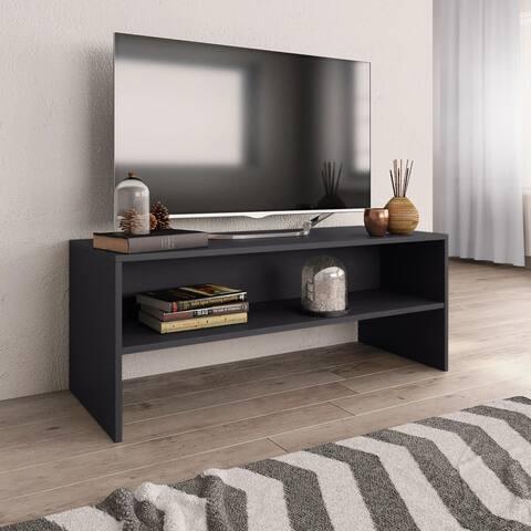 "vidaXL TV Cabinet Gray 39.4""x15.7""x15.7"" Chipboard"