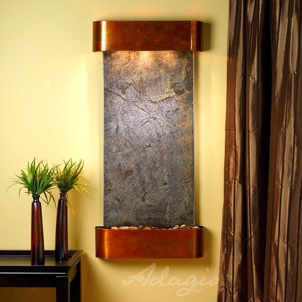 Cascade Springs Fountain - Rustic Copper - Rounded Edges - Choose Options