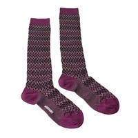 Missoni GM00CMD4597 0003 Purple/Black Boot Socks - M