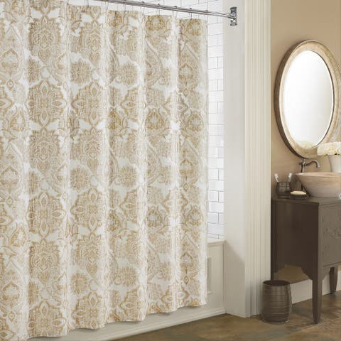 Five Queens Court Sandy Shower Curtain
