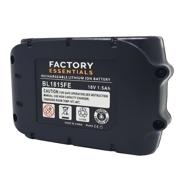 2x Factory Essentials BL1815 18V 1.5 Ah Battery for Makita BL1815 BL1815N BL1820