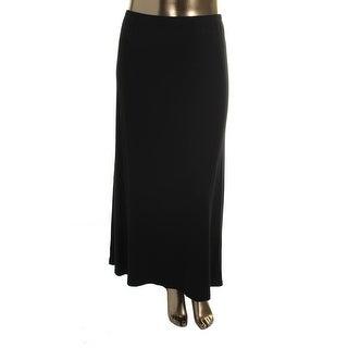 Karen Kane Womens Plus Maxi Skirt Slit Long