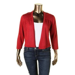 Anne Klein Womens Cardigan Sweater Open Front 3/4 Sleeves|https://ak1.ostkcdn.com/images/products/is/images/direct/5aed8990929155b677653a756d4c7a0a9ddf6ef5/Anne-Klein-Womens-Cardigan-Sweater-Open-Front-3-4-Sleeves.jpg?impolicy=medium