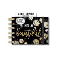 Lady Jayne Spiral Note Pad W/Pocket Hello Beautifl