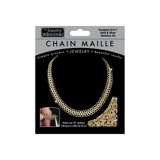 "Chain Maille Jewelry Kit-18"" European 4-In-1 Necklace-Gold&Silver - gold"