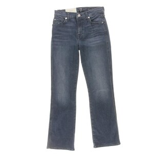 7 For All Mankind Womens Cropped Jeans Bootcut Faded