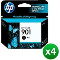 HP 901 Black Original Ink Cartridge (CC653AN)(4-Pack)