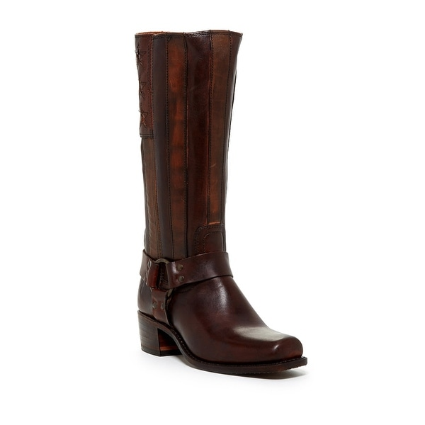 Frye NEW Brown Harness Americana 8.5M Mid-Calf Leather Boots