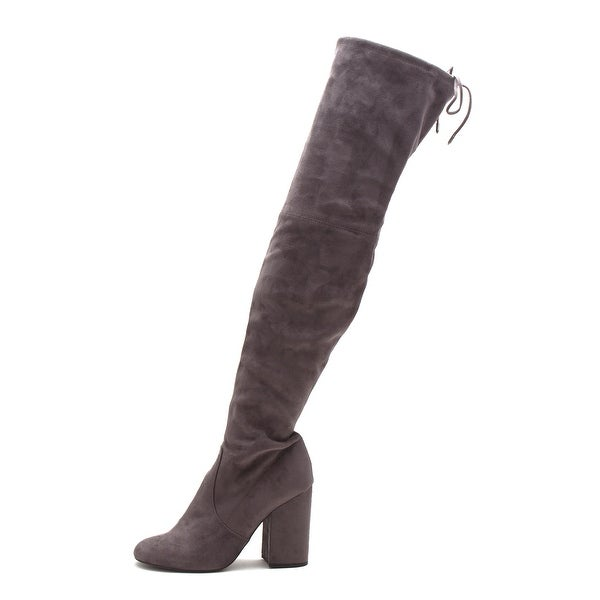 bc8ee57f5a5 Shop Steve Madden Womens Norri Leather Almond Toe Over Knee Fashion ...