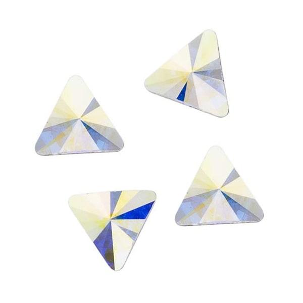 Swarovski Elements Crystal, 2716 Rivoli Triangle Flatback Rhinestone 5mm, 10 Pieces, Crystal AB
