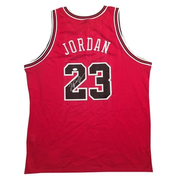 Michael Jordan Autographed Chicago Bulls 1984 Nike Signed Authentic Basketball Red Jersey JSA COA