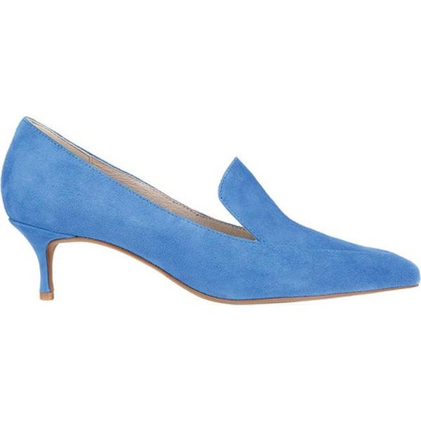 a2371ff4f03 Shop Kenneth Cole New York Women s Shea Kitten Heel Loafer Cerulean Suede -  Free Shipping Today - Overstock - 19490787