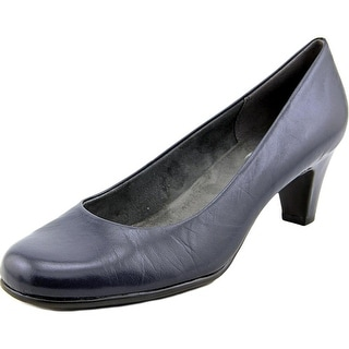 Aerosoles Nice Play Women Round Toe Leather Blue Heels