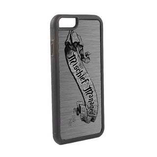 Harry Potter Mischief Managed Banner Brushed Silver Black Cellphone Case iPhone6 Rubber Case