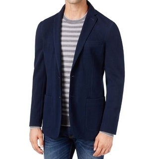 Michael Kors NEW Solid Navy Blue Mens Size 38 Two Button Sport Coat