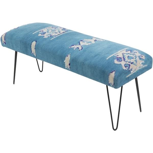Mahalia Dark Blue Boho Cotton Bench. Opens flyout.