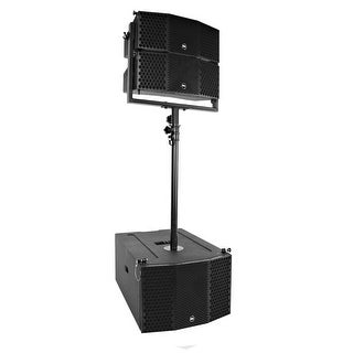 Seismic Audio Compact Line Array Package - 3x10 Subwoofer, Pair of 2x5 Speakers and Pole Mount