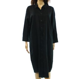 Lauren Ralph Lauren NEW Black Womens Size 4 Linen Buttoned Shirt Dress|https://ak1.ostkcdn.com/images/products/is/images/direct/5af3788fde3ffa0cdf21cb62fd635d5b50434a42/Lauren-Ralph-Lauren-NEW-Black-Womens-Size-4-Linen-Buttoned-Shirt-Dress.jpg?impolicy=medium
