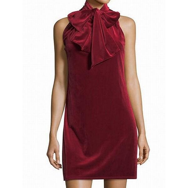 Shop Laundry by Shelli Segal Red Womens Size 8 Velvet Sheath Dress ... d055414d86