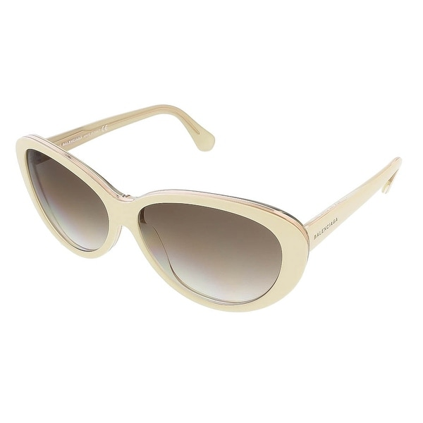 Balenciaga BA0005S 24F Ivory/Gold Oval sunglasses - 59-14-140