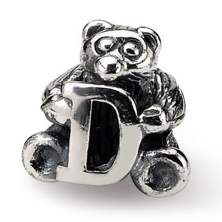 Sterling Silver Reflections Kids Letter D Bead (3.5mm Diameter Hole)