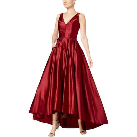 b7c95a5fa4 Betsy   Adam Womens Evening Dress Satin Pleated
