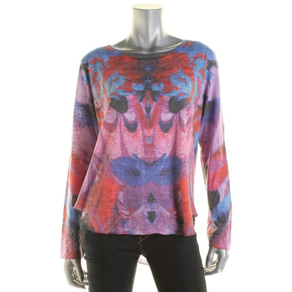 Shop Nally   Millie Womens Pullover Sweater Printed Crew Neck - Free  Shipping On Orders Over  45 - Overstock.com - 14674843 f09aaa5ce5