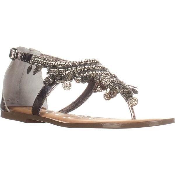 Naughty Monkey Brave Heart Flat Thong Sandals, Black - 9.5 us / 41 eu