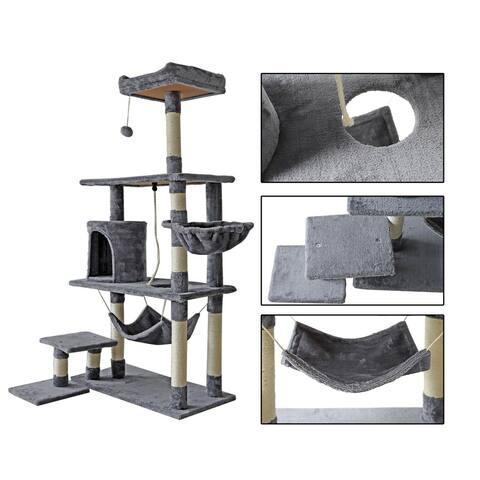confote 60'' Multi-Level Cat Tree Tower Condo