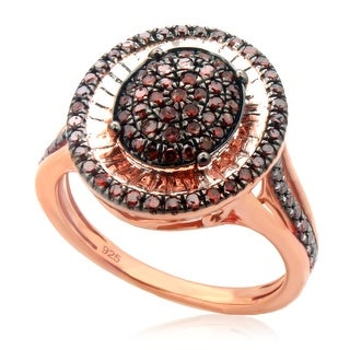 Beautiful 0.52ct Round Brilliant Cut Cognac Color Diamond Designer Ring, Size 7