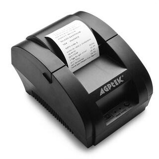 AGPtek Thermal Printer High Speed USB Port POS Thermal Receipt Printer compatible 58mm Thermal Paper Rolls