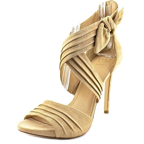 GUESS Womens Wazali2 Suede Open Toe Casual Strappy Sandals
